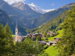 Собирать пазл Austria village онлайн