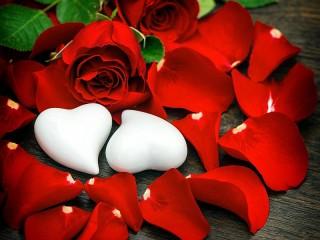 Собирать пазл White Valentine онлайн