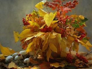 Собирать пазл Bunch of leaves онлайн