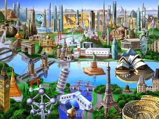 Собирать пазл Wonders of the world онлайн