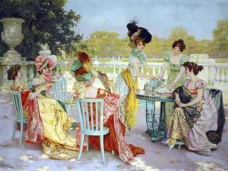 Собирать пазл Lady party онлайн