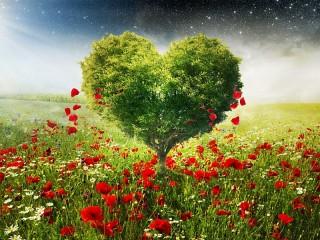 Собирать пазл Tree-heart онлайн
