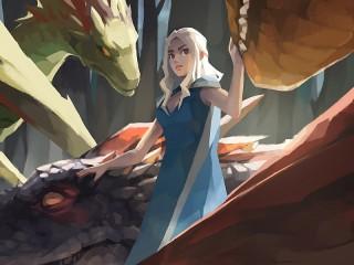 Собирать пазл The girl with the dragons онлайн