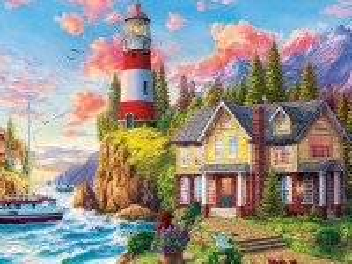 Собирать пазл House at the lighthouse онлайн