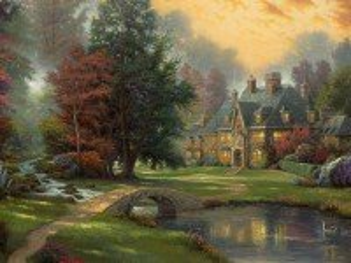 Собирать пазл House at river онлайн