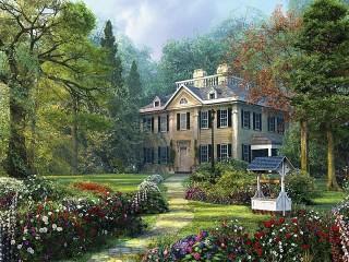 Собирать пазл House in the woods онлайн