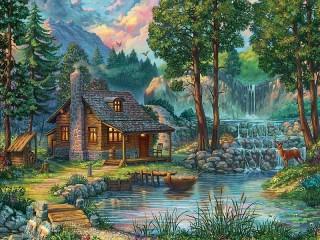 Собирать пазл The cabin in the woods онлайн