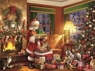 Собирать пазл Gift delivery онлайн