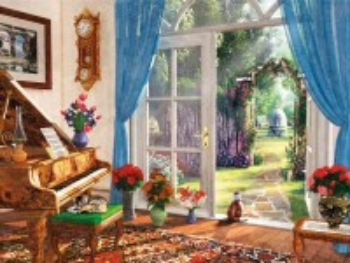 Собирать пазл Doors to the garden онлайн