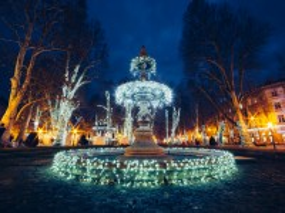 Собирать пазл Fountain in Zagreb онлайн