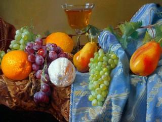 Собирать пазл Fruit and grapes онлайн
