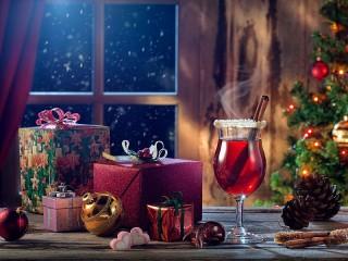 Собирать пазл Mulled wine and gifts онлайн