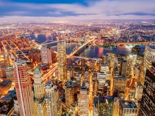 Собирать пазл City lights онлайн