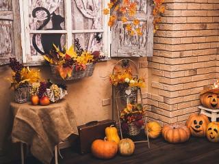 Собирать пазл Halloween yard онлайн