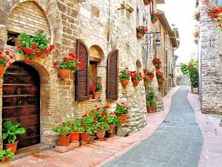 Собирать пазл Italian street онлайн