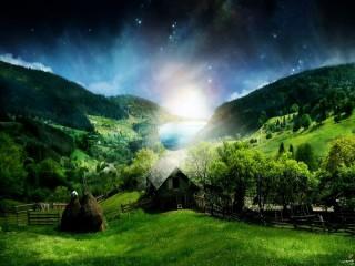 Собирать пазл Stunning scenery онлайн