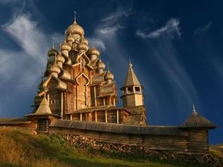 Собирать пазл Kizhi church онлайн