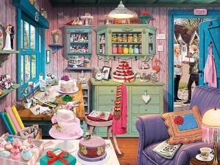 Собирать пазл Pastry shop онлайн