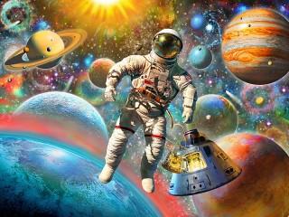 Собирать пазл Astronaut онлайн