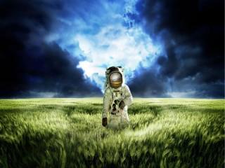 Собирать пазл Cosmonaut in the field онлайн