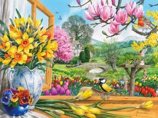 Собирать пазл Colours of spring онлайн