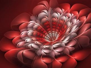 Собирать пазл Red flower онлайн