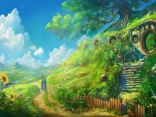 Собирать пазл Mag i hobbit онлайн