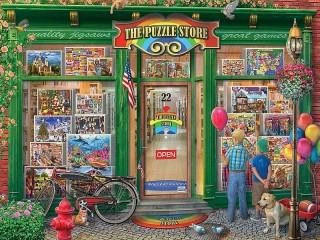 Собирать пазл The puzzle store онлайн