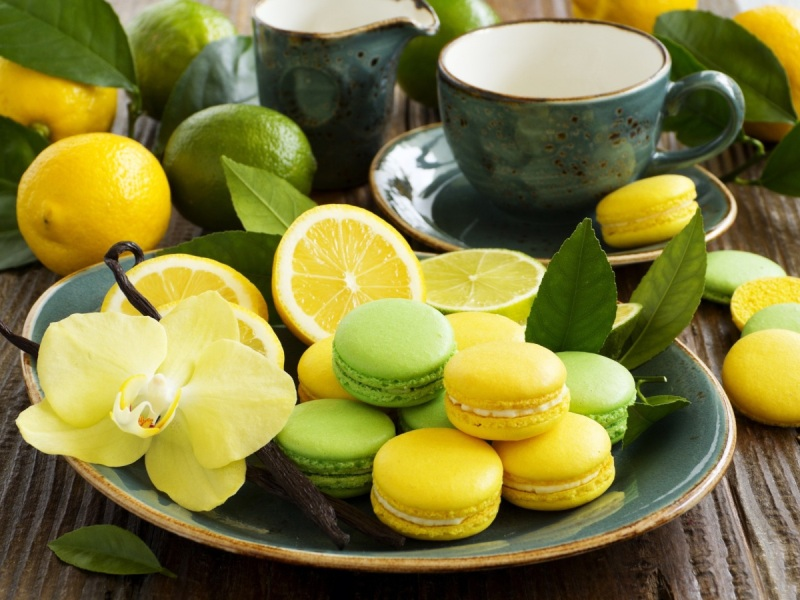 Puzzle Zbierać puzzle online - Macarons and citruses
