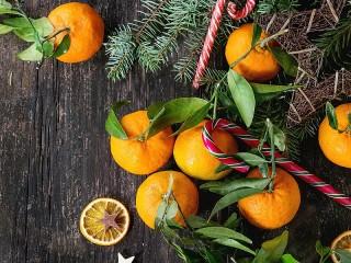 Собирать пазл Tangerines онлайн
