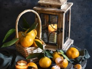 Собирать пазл Tangerine candle онлайн
