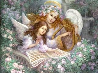 Собирать пазл Angel music онлайн