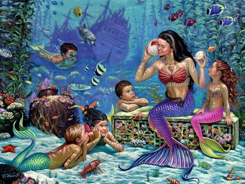 Puzzle Zbierać puzzle online - Na dne morya