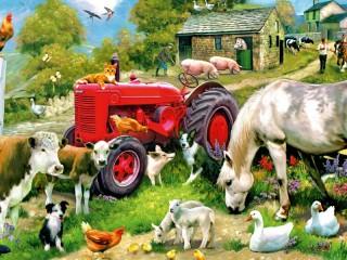 Собирать пазл At farm онлайн