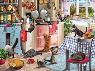 Собирать пазл In the kitchen онлайн