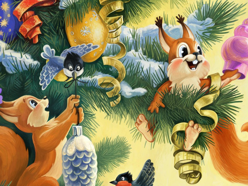 Puzzle Zbierać puzzle online - Decorating the fir-tree