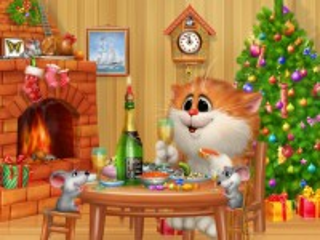 Собирать пазл The new year of the cat онлайн