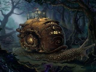 Собирать пазл A huge snail онлайн