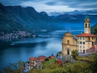 Собирать пазл Lake Como онлайн