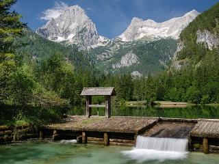 Собирать пазл Schiederweiher Lake онлайн