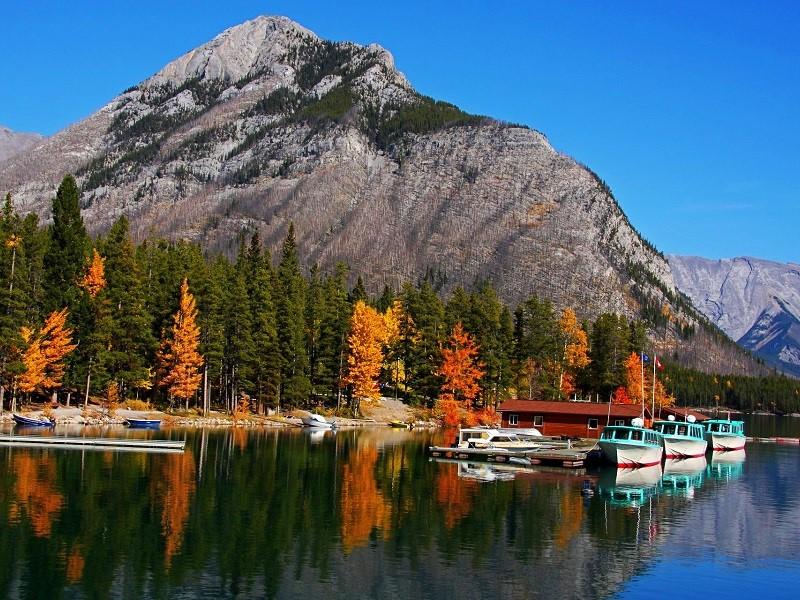 Puzzle Zbierać puzzle online - Banff Park in autumn