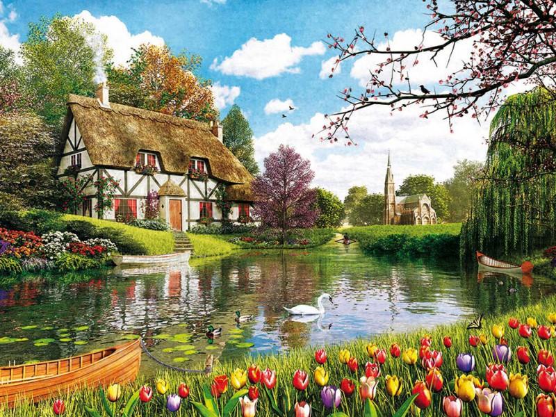 Puzzle Zbierać puzzle online - Tulips season