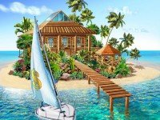 Собирать пазл Paradise island онлайн