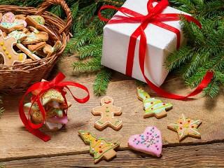 Собирать пазл Christmas gift онлайн