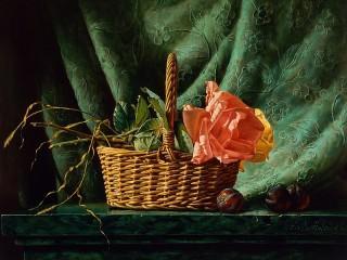Собирать пазл Roses and plums онлайн