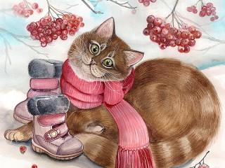 Собирать пазл Boots for the cat онлайн