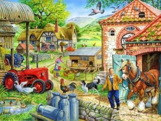 Собирать пазл Rural life онлайн