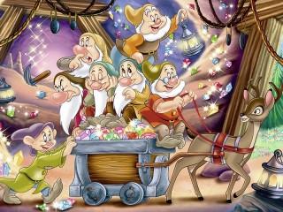 Собирать пазл The seven dwarfs онлайн