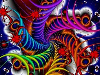 Собирать пазл Six of spirals онлайн