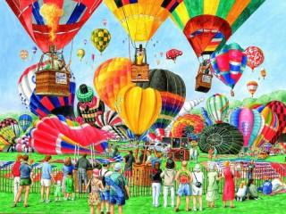 Собирать пазл Air-balloons show онлайн